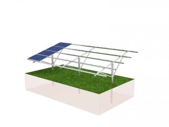 Piling pv ground mounting structure with concrete blocks